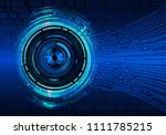 binary circuit board future... | Shutterstock .eps vector #1111785215
