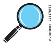 magnifying glass | Shutterstock .eps vector #111178955