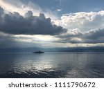 cgn boat on the leman lake with ... | Shutterstock . vector #1111790672
