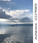 cgn boat on the leman lake with ... | Shutterstock . vector #1111790855
