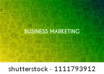 business marketing banner.... | Shutterstock .eps vector #1111793912