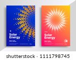 solar energy cover design... | Shutterstock .eps vector #1111798745