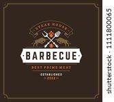 grill restaurant logo vector... | Shutterstock .eps vector #1111800065