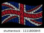 waving english state flag on a... | Shutterstock .eps vector #1111800845