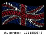 waving great britain state flag ... | Shutterstock .eps vector #1111800848