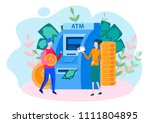 concept employee of a bank with ... | Shutterstock .eps vector #1111804895