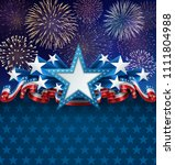 patriotic background with star...   Shutterstock .eps vector #1111804988