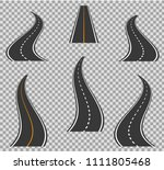 road icons footpath bending and ... | Shutterstock .eps vector #1111805468