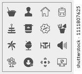 modern  simple vector icon set...   Shutterstock .eps vector #1111807625