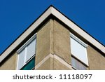 top edge of a panel building... | Shutterstock . vector #11118097