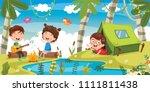 vector illustration of kids... | Shutterstock .eps vector #1111811438