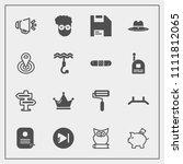 modern  simple vector icon set...   Shutterstock .eps vector #1111812065