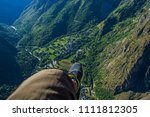 the view of the alps from the... | Shutterstock . vector #1111812305