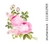 the rose elegant card. a spring ... | Shutterstock .eps vector #1111812905