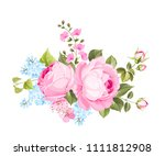 spring flowers bouquet of color ... | Shutterstock .eps vector #1111812908