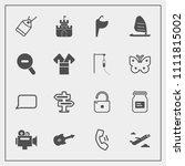 modern  simple vector icon set...   Shutterstock .eps vector #1111815002