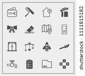modern  simple vector icon set...   Shutterstock .eps vector #1111815182