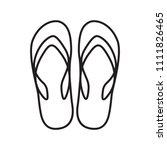 slippers icon vector | Shutterstock .eps vector #1111826465
