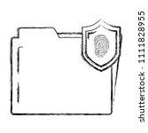 grunge folder file with tactile ... | Shutterstock .eps vector #1111828955