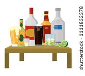 liquor beverages bottles and...   Shutterstock .eps vector #1111832378