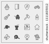 modern  simple vector icon set...   Shutterstock .eps vector #1111835012