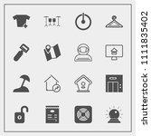 modern  simple vector icon set... | Shutterstock .eps vector #1111835402