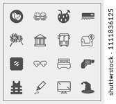 modern  simple vector icon set... | Shutterstock .eps vector #1111836125