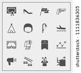 modern  simple vector icon set... | Shutterstock .eps vector #1111836305