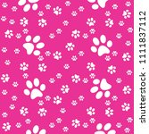 Pink Paws Seamless Background ...