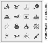 modern  simple vector icon set... | Shutterstock .eps vector #1111838588