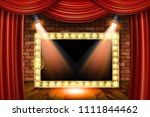 3d render marquee light... | Shutterstock .eps vector #1111844462