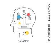 life balance vector... | Shutterstock .eps vector #1111847402