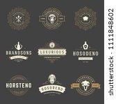 restaurant logos design... | Shutterstock .eps vector #1111848602