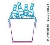 degraded line liquor bottles... | Shutterstock .eps vector #1111848695
