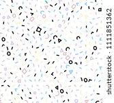 memphis pattern. seamless... | Shutterstock .eps vector #1111851362
