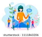 concept e mail message  mail... | Shutterstock .eps vector #1111863206