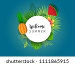 summer vector banner design... | Shutterstock .eps vector #1111865915