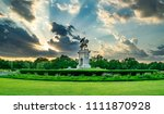 statue and garden in houston at ... | Shutterstock . vector #1111870928