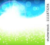 sunny bright green blue vector... | Shutterstock .eps vector #1111873256