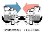 group of businessmen at meeting | Shutterstock .eps vector #111187508