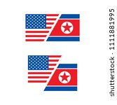 united states and north korea... | Shutterstock .eps vector #1111881995