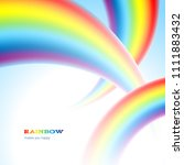 there are thee rainbows in the... | Shutterstock .eps vector #1111883432