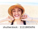 portrait of young smiling and... | Shutterstock . vector #1111883696