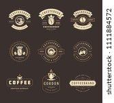 coffee shop logos design... | Shutterstock .eps vector #1111884572