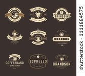 coffee shop logos design... | Shutterstock .eps vector #1111884575