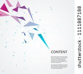 molecular  chemistry ... | Shutterstock .eps vector #1111887188