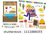 illustration vector flat... | Shutterstock .eps vector #1111888355