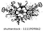 stylized floral bouquet.... | Shutterstock .eps vector #1111909862