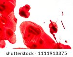 blood spilled on a white... | Shutterstock . vector #1111913375