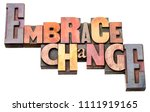 embrace change   isolated word... | Shutterstock . vector #1111919165